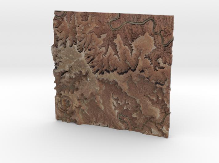 Canyonlands National Park Map 3d printed
