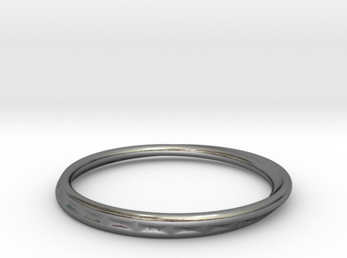 Ring Mobius facet 3d printed