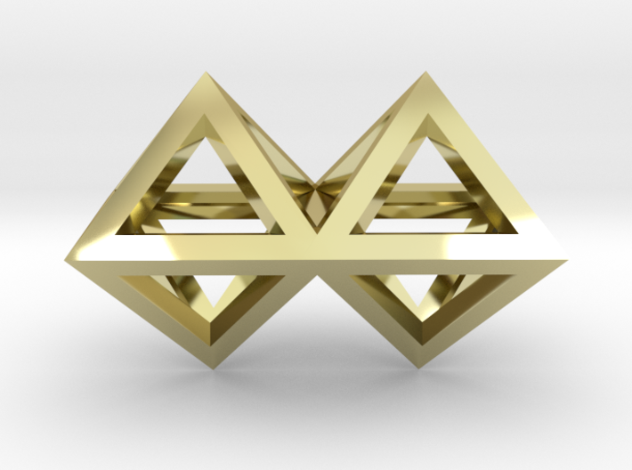 4 Pendant. Perfect Pyramid Structure. 3d printed