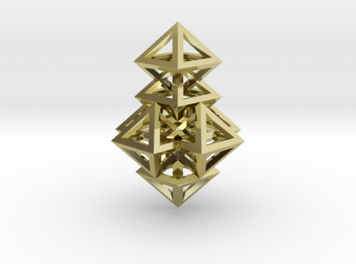 R14 Pendant. Perfect Pyramid Structure. 3d printed