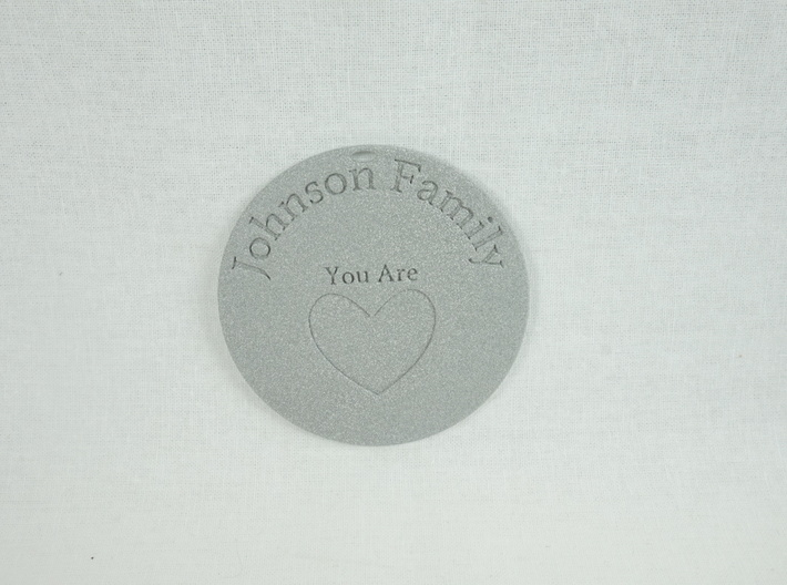 You Are Loved Johnson Family Ornament 3d printed Excellent gift for family or friends!
