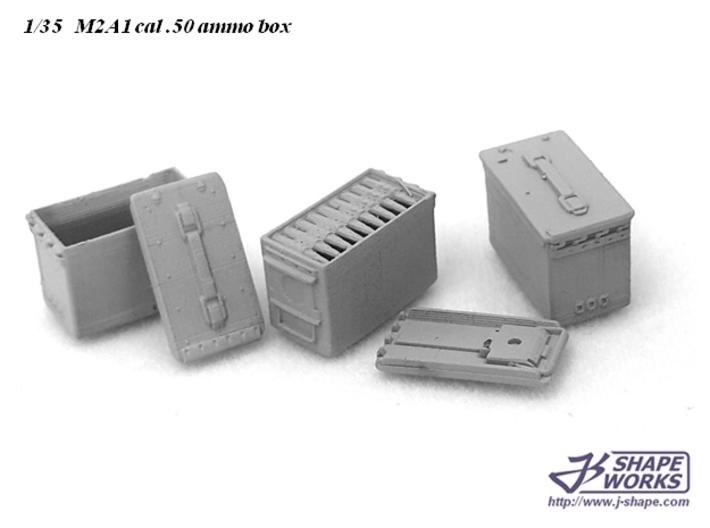 1/30 M2A1 cal.50 Ammo box (18 set) 3d printed