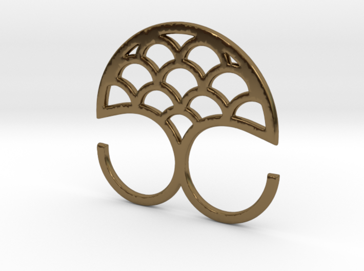 Mermaid double ring 3d printed