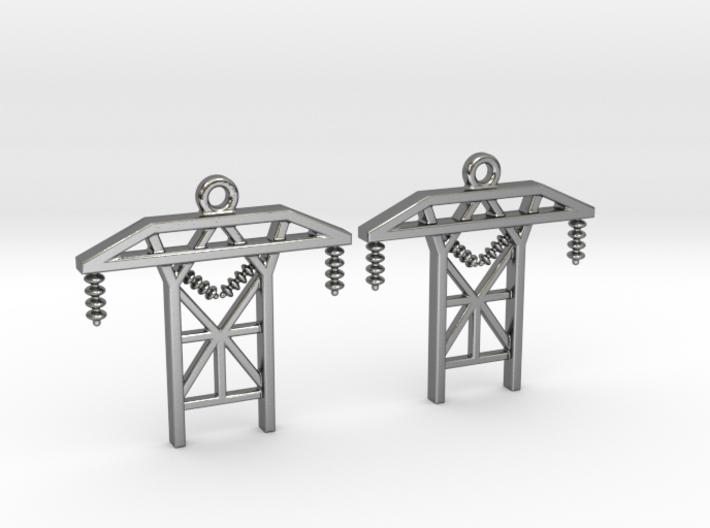 Power Tower Earrings 3d printed