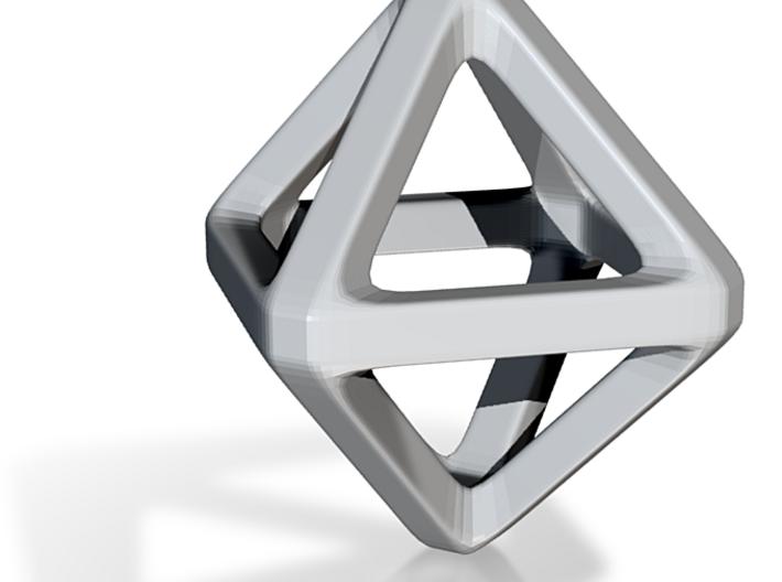 Porcelain Octahedron Wireframe 3d printed