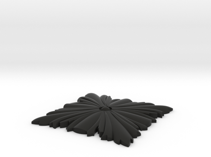 Newel Post Pendant Leaf 3d printed