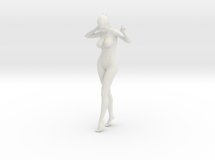 Long Ponytail Girl-014 3d printed