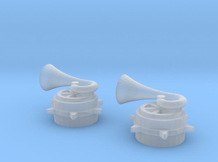 Skokie Swift Horn Set (1:48) 3d printed