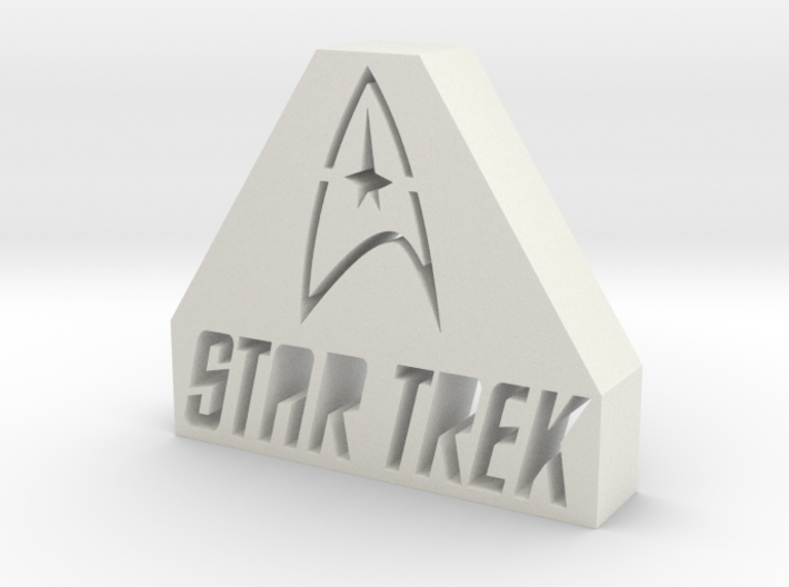 Star Trek Logo 3d printed