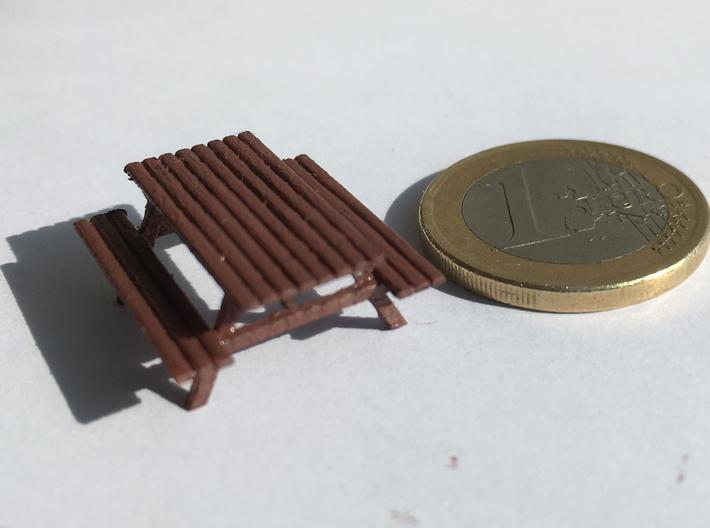 Picnic Table H0 scale (1/87) 3d printed