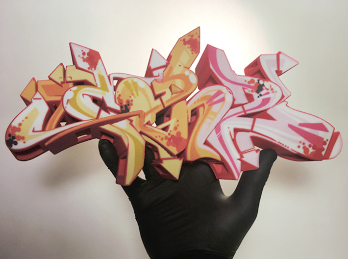 CAN2 graffiti sculpture 3d printed graffiti sculpture CAN2 photo - size L