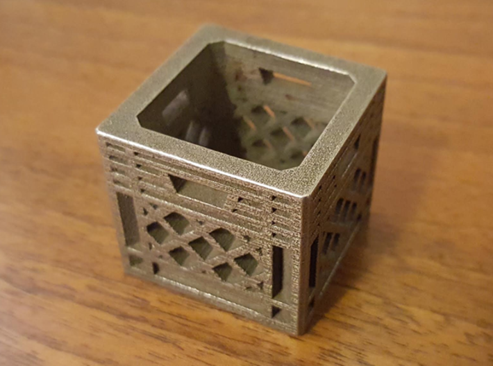 Record Crate Charm Pendant 3d printed