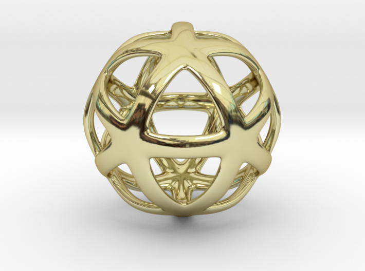 Math Art - Star Ball Pendant 3d printed