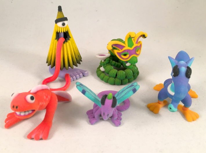 2 Inch Monsters: Batch 14 3d printed