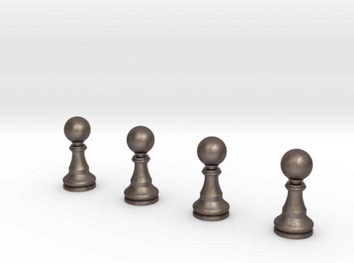 4 Pawns Only 3d printed