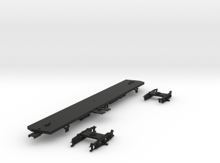 HO BSL 1938 South Broad Subway Frame/Trucks Nonpow 3d printed