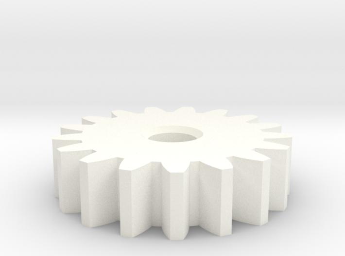 GearModule1.0 17teeth 20deg Pressure Angle NoHub D 3d printed
