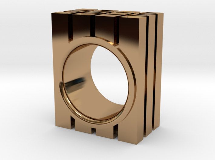 QUAD RING - SIZE 7 3d printed