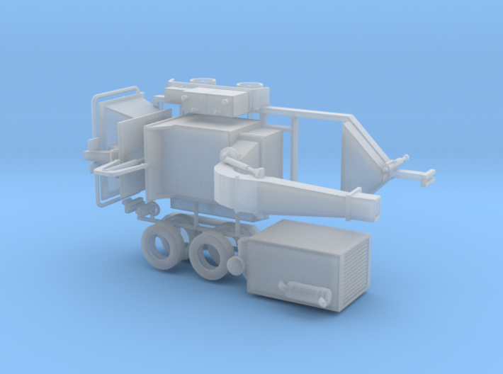 1/87th Wood Chipper Trailer 3d printed