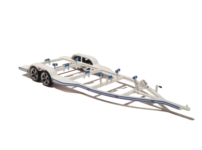 1/87 Formula-1 Speedboat Trailer 3d printed FUD with extra resin parts
