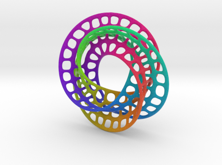 3 quarter twist Möbius strip (color) 3d printed