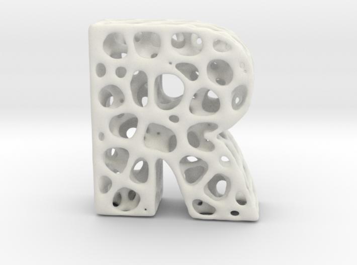Voronoi Letter ( alphabet ) R 3d printed