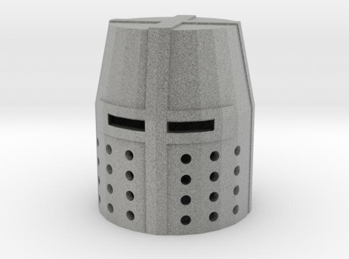 Crusader Great Helm 3d printed