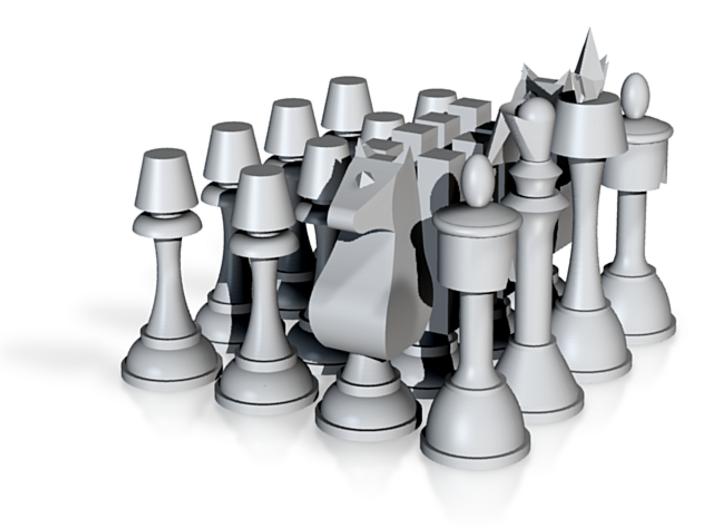 """Code Geass Chess Set 2.5"""" Tall 3d printed"""