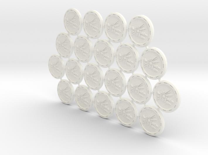 Descent Hex tokens - LoR (20 pcs) 3d printed