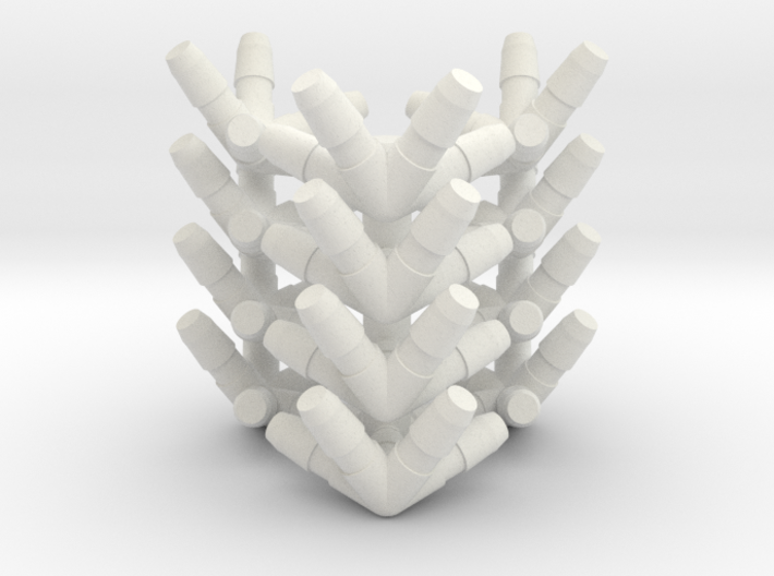 Icosahedron Straw Connectors 3d printed