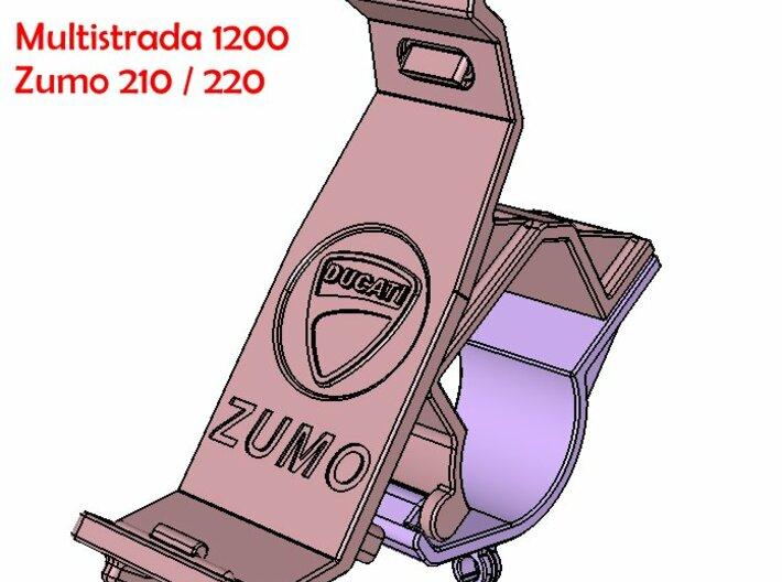 ZUMO 210 Halter Multistrada Lenkerbruecke 3d printed Add a caption...