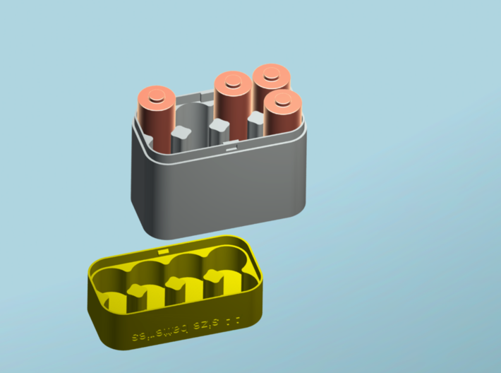 Battery Case SIZE AA  3d printed