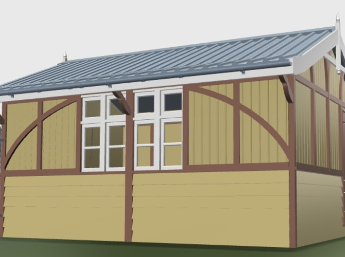 LM42A Beeston Tor Refreshment room 3d printed Coloured CAD artwork