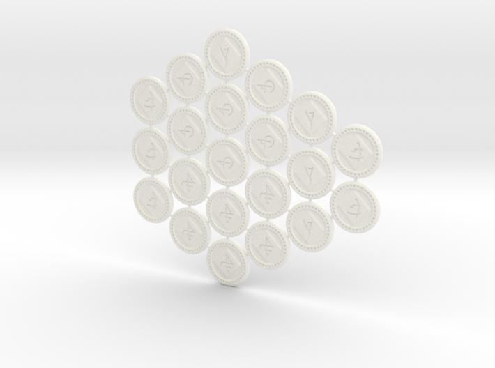 Descent Objective tokens - expansions (21 pcs) 3d printed