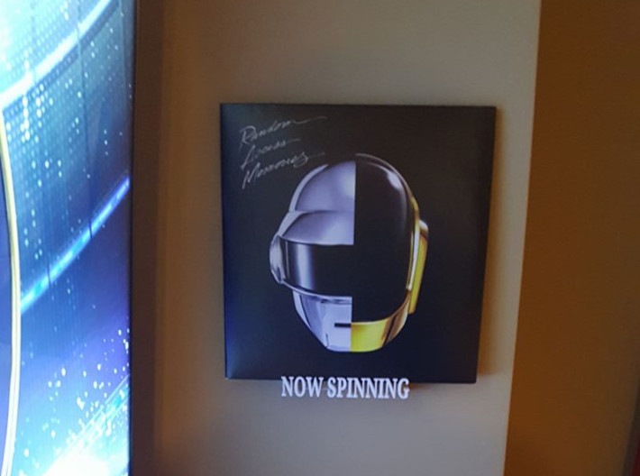 Now Spinning - Vinyl sleeve wall mount 3d printed