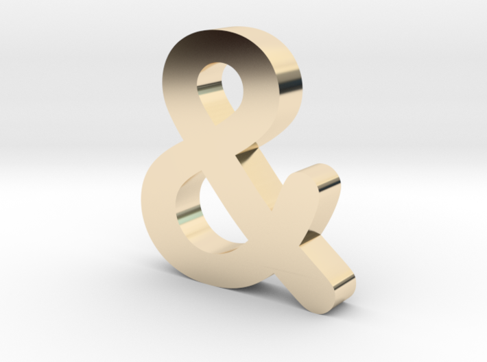 Ampersand 3d printed