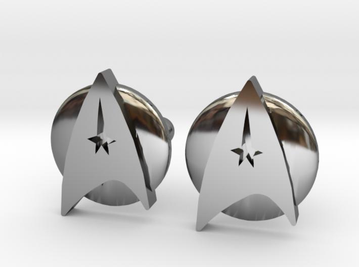 Starfleet Cufflinks 3d printed