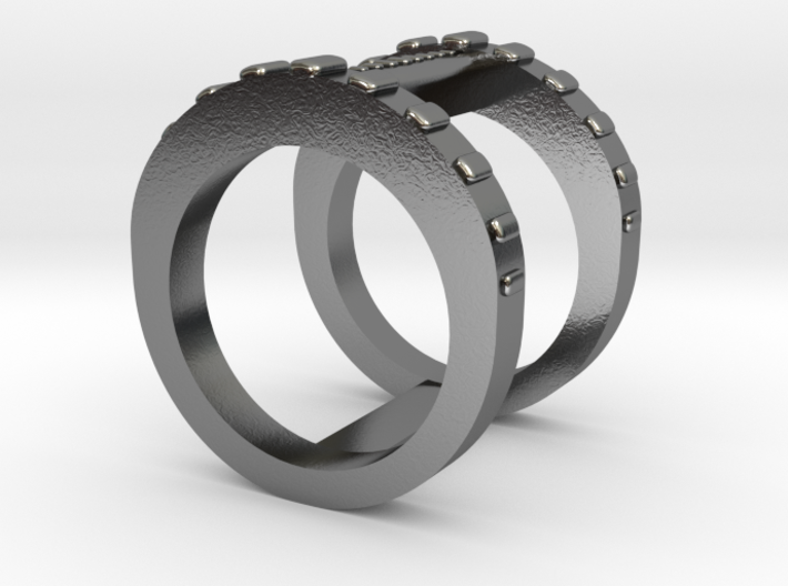 Double Banded Ring 3d printed