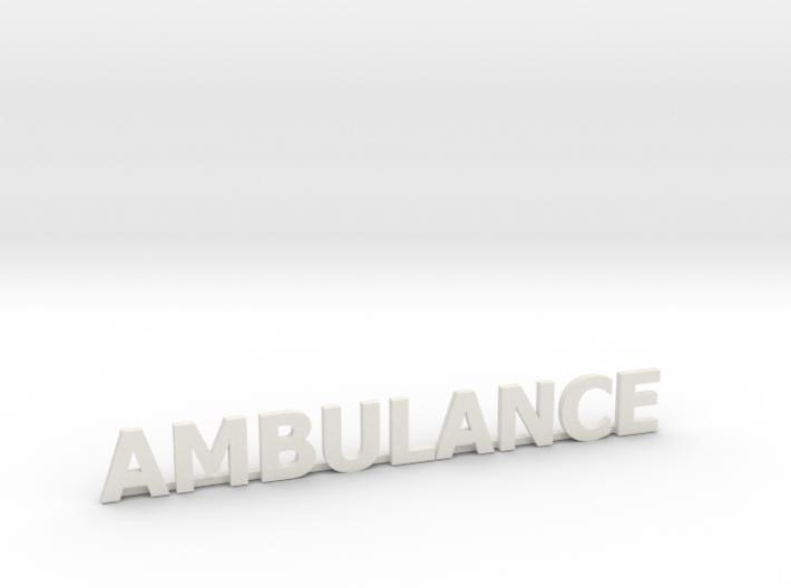 Ambulance letters met steun 86 mm 3d printed