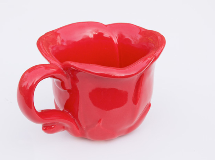 Flower Teacup 3d printed