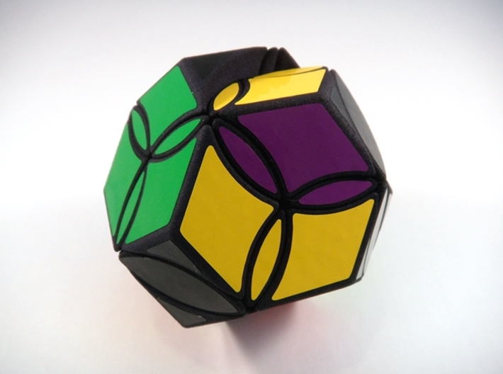 Poison Ivy Octahedron Puzzle 3d printed One Turn