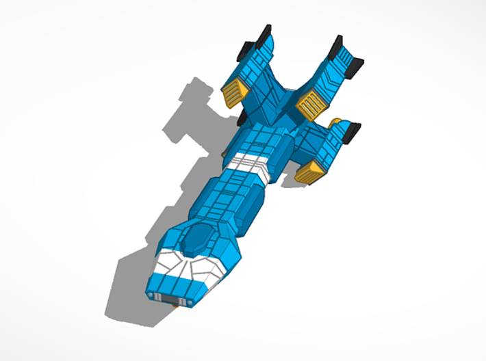 Haydron Blorr Class Transport 3d printed Ship without cargo pods