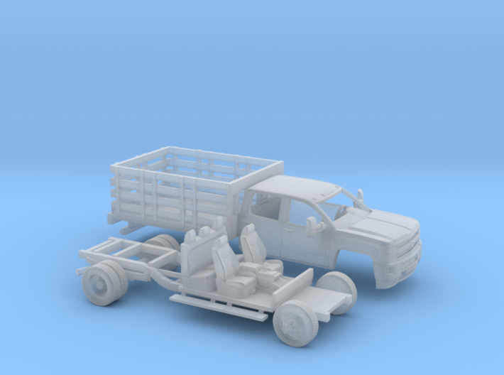 1/160 2015 Chevrolet Silverado HD Dually Stakebed 3d printed