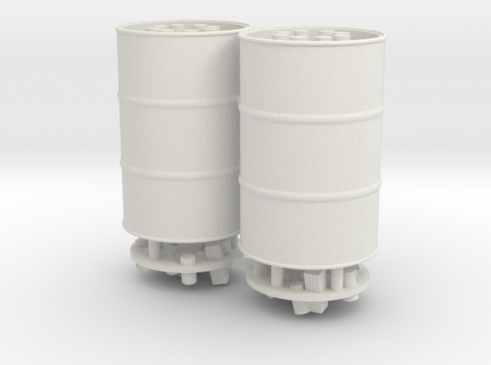 55 Gal Drum, Closed or Open Top with Trash, x2 3d printed