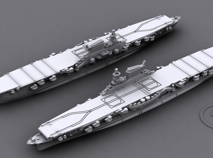 1/1800 IT CV Aquila [1943] 3d printed Computer software render