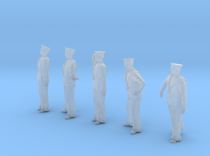 1-56 Royal Navy Sailors Set1-1 3d printed