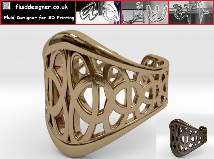 Celtic Knot Ring 3-Leaf (1) 3d printed Celtic Knot Ring 3-Leaf (1)
