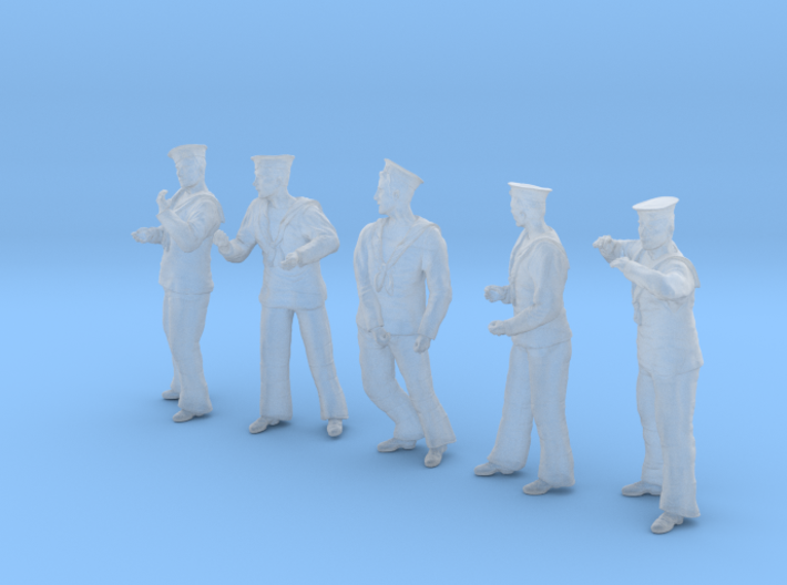 1-48 Royal Navy Sailors Set1-3 3d printed
