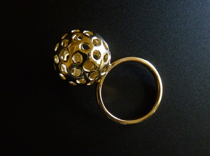 Simple Ball Shiny Ring Size 7 3d printed