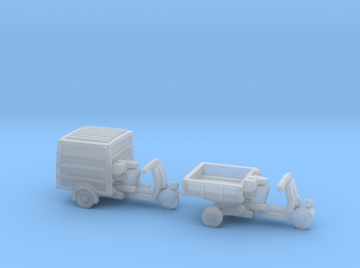 N Scale 1:160 2 Piaggio Ape Scooters 3d printed